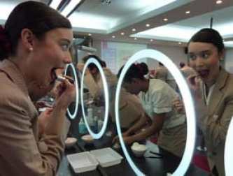 Emirates lipstick lesson