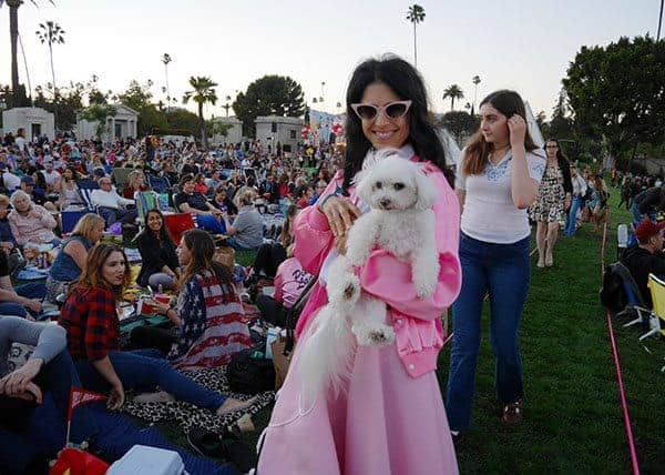Dressed in character at Cinespia Hollywood Forever
