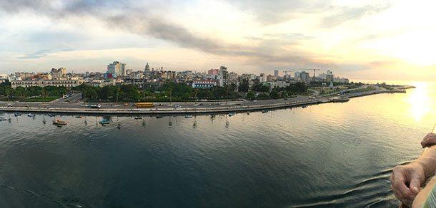 Havana Cuba from the sea