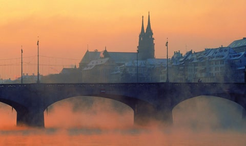Early morning in the Rhine