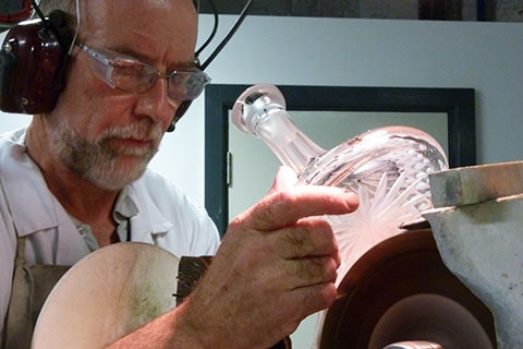 Waterford crystal cutting