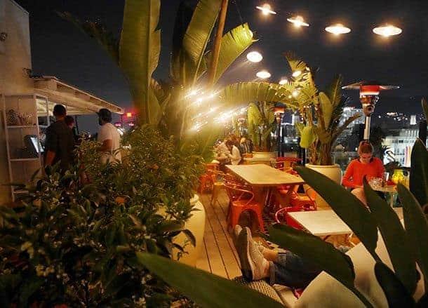 Rooftop bars LA