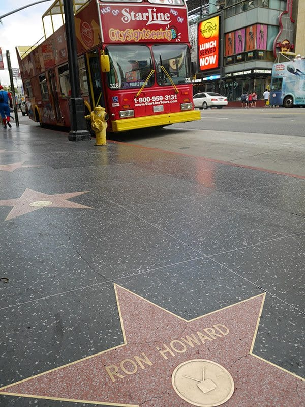 Hollywood star walk Ron Howard