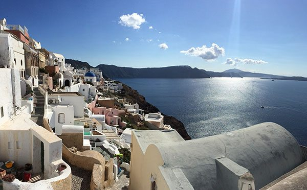 Santorini Oia in the sun
