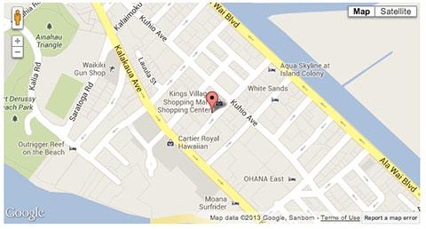 Shoreline Hotel Waikiki map