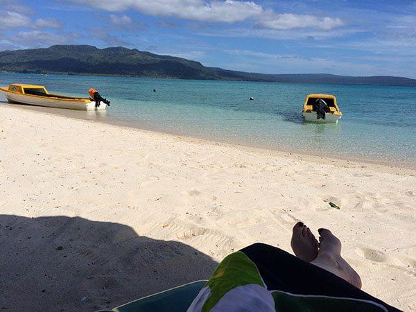 Snorkelling Pele Island