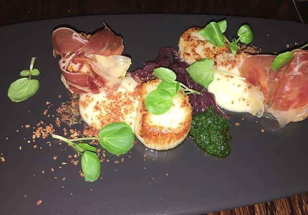 Sofitel Auckland scallops