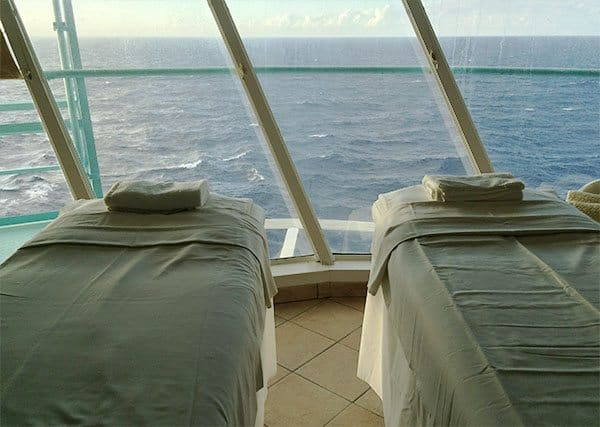 Vision of the Seas spa tables