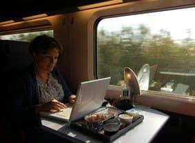 Blogging on train
