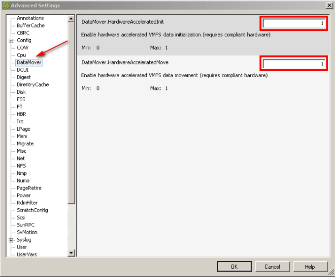 How to Enable/Disable VMware VAAI Functionality in ESXi/ESX