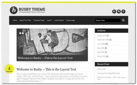 Free WordPress Theme 2013 - Busby