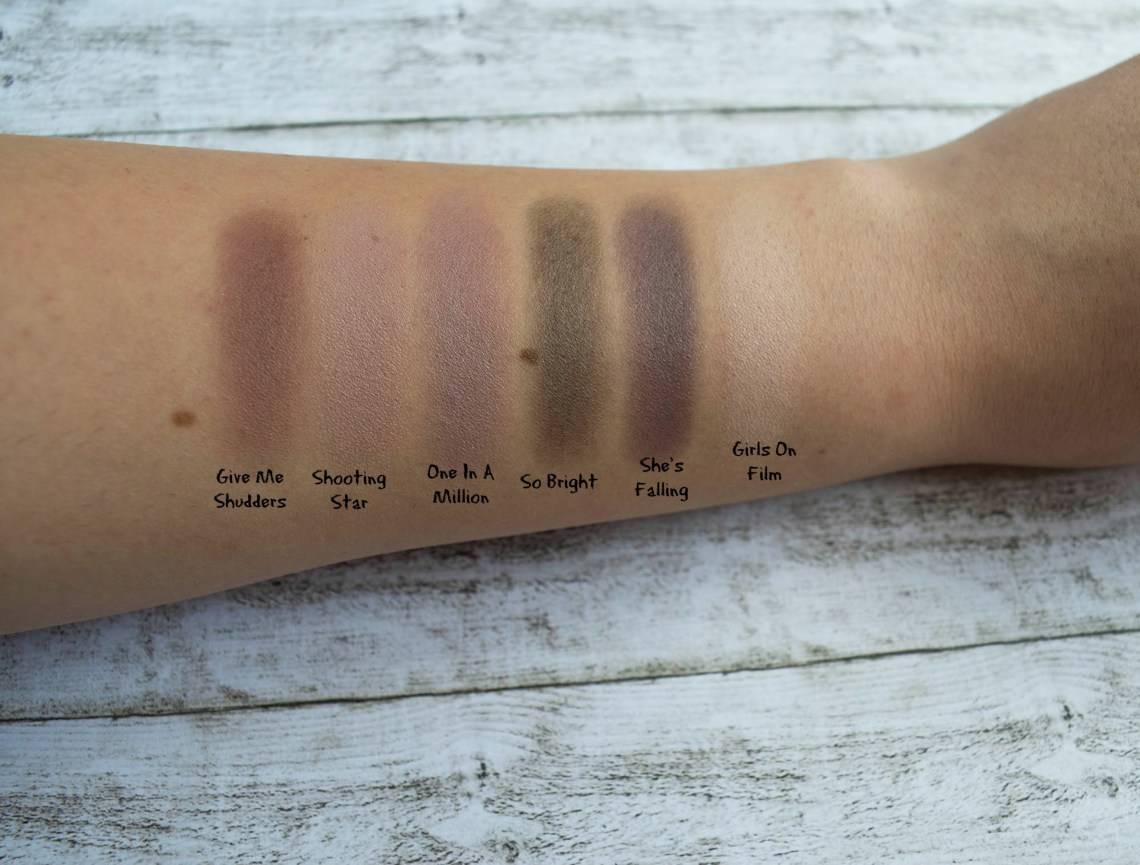 makeup revolution girls on film eyeshadow palette - swatches and review (2)