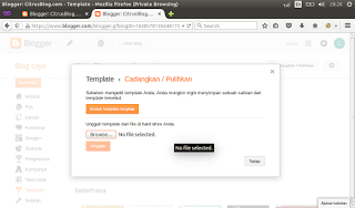 tutorial mengganti template blogger