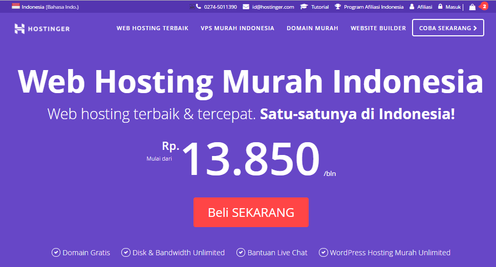 hosting murah indonesia