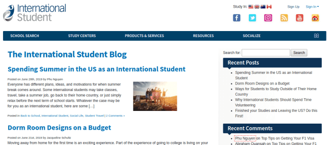 Blogs for College Students -  International Student Blog