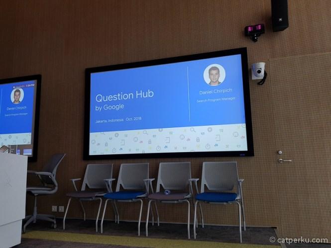 Saya datang ke Kantor Google di Indonesia dalam rangka menghadir Google Question Hub Open House.