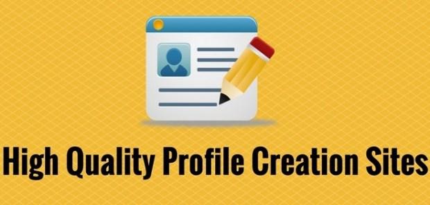 High PR Profile Creation Sites