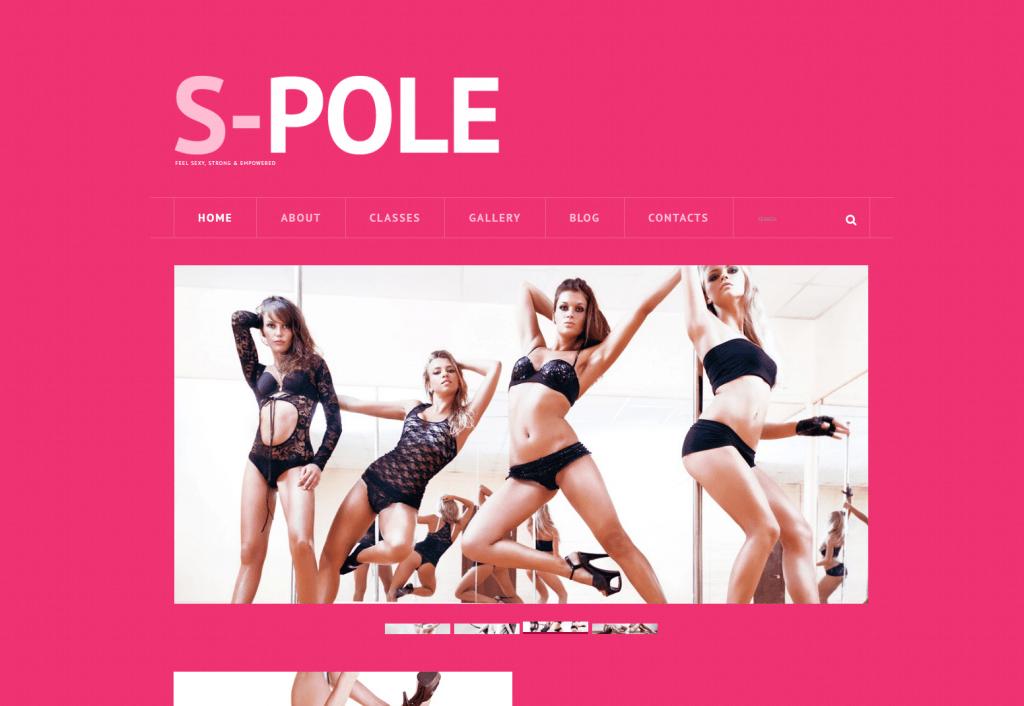 Pole Dance WordPress Template