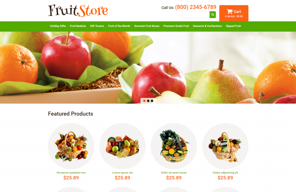 FruitStore- WordPress Opencart Template