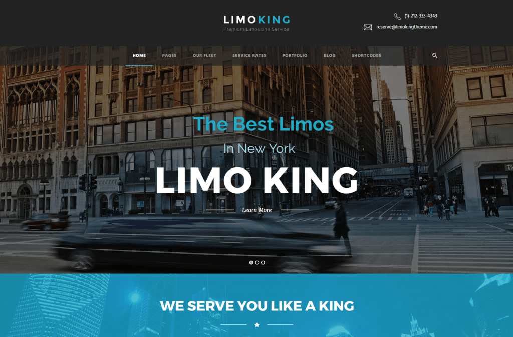 Limo King Limousine Booking & Car Rental Theme