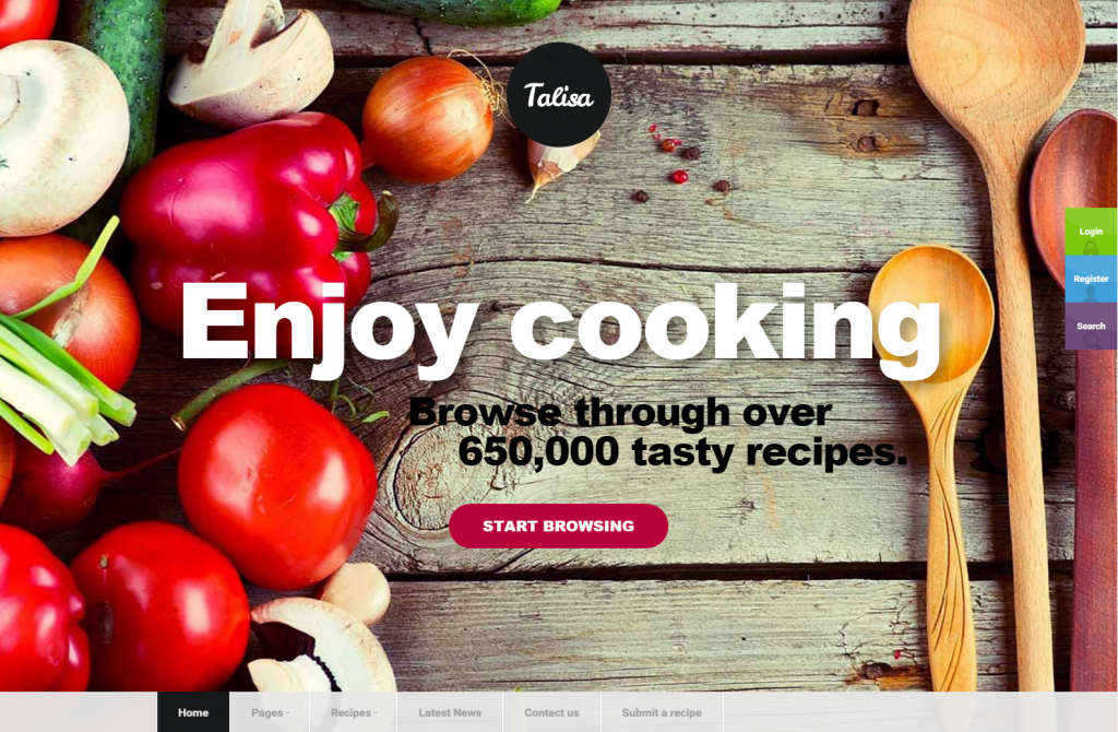 Tailsa - Responsive Theme for Food Bloggers