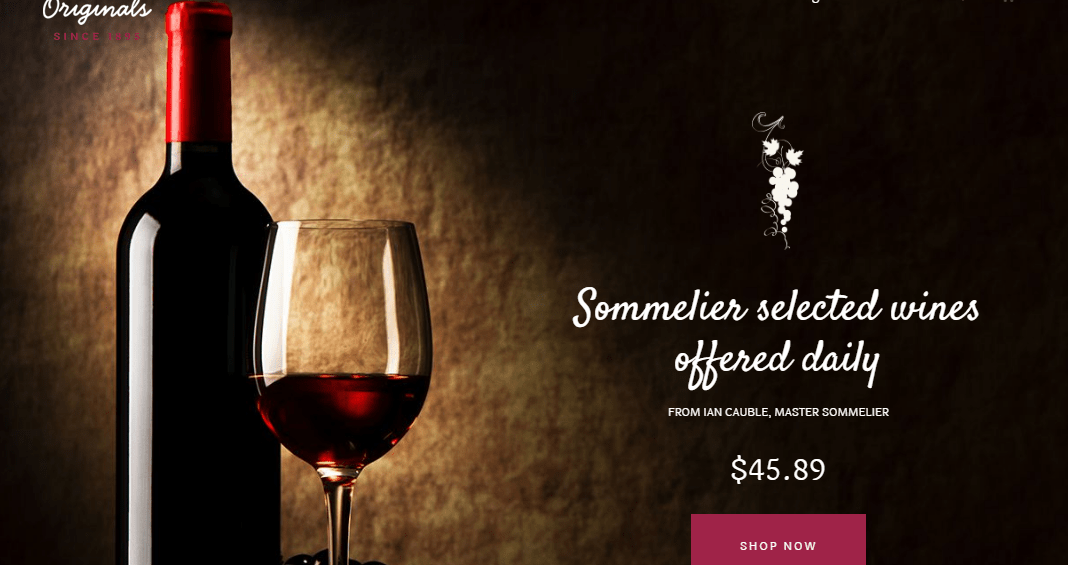 Wine Store WordPress Theme