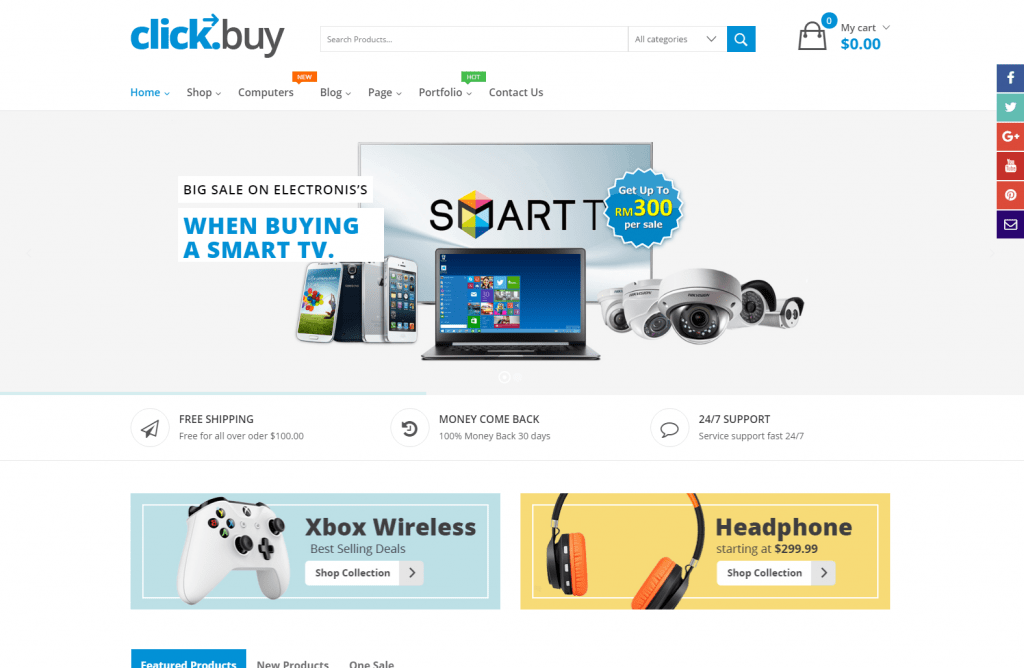Clickbuy- Responsive Digital Store Theme