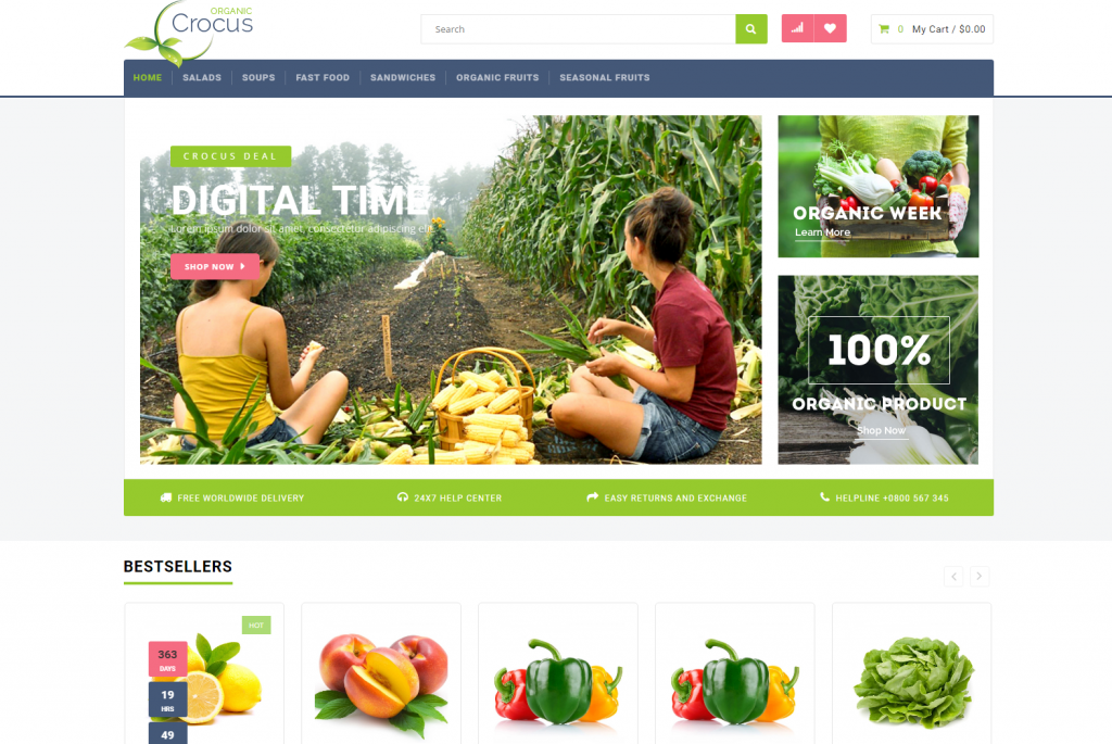 Crocus - Multipurpose OpenCart Template