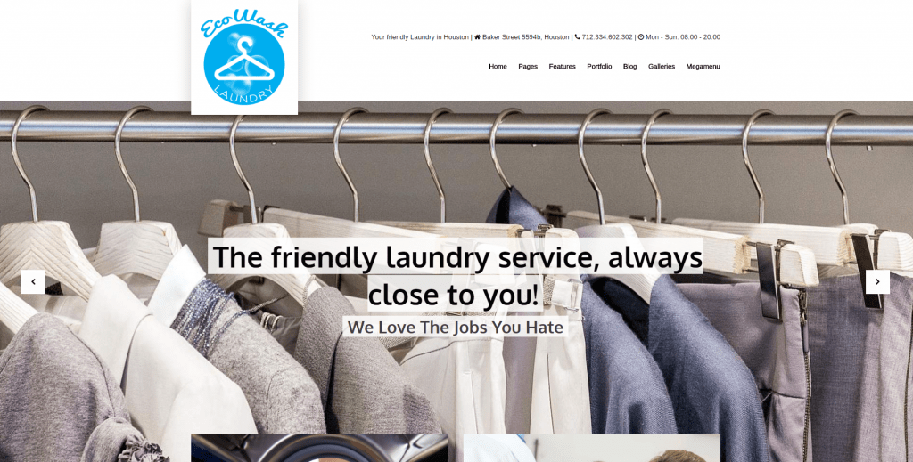 responsive dry cleaning wordpress theme