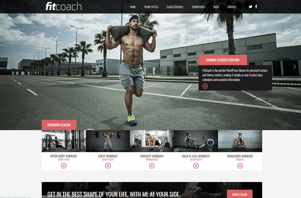 Fit Coach - Responsive Fitness WordPress Theme