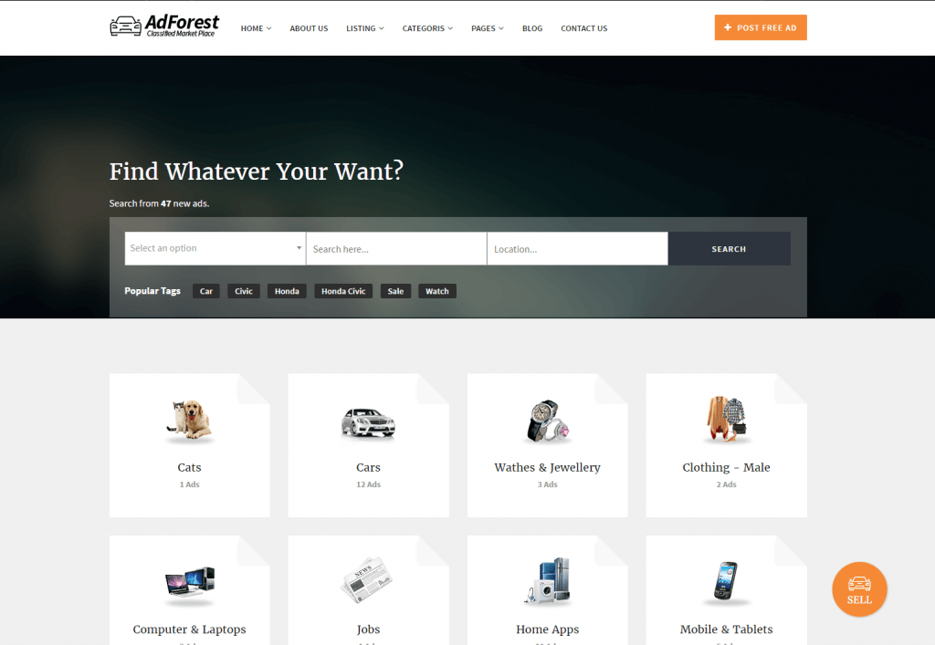 AdForest Classifieds Responsive Theme