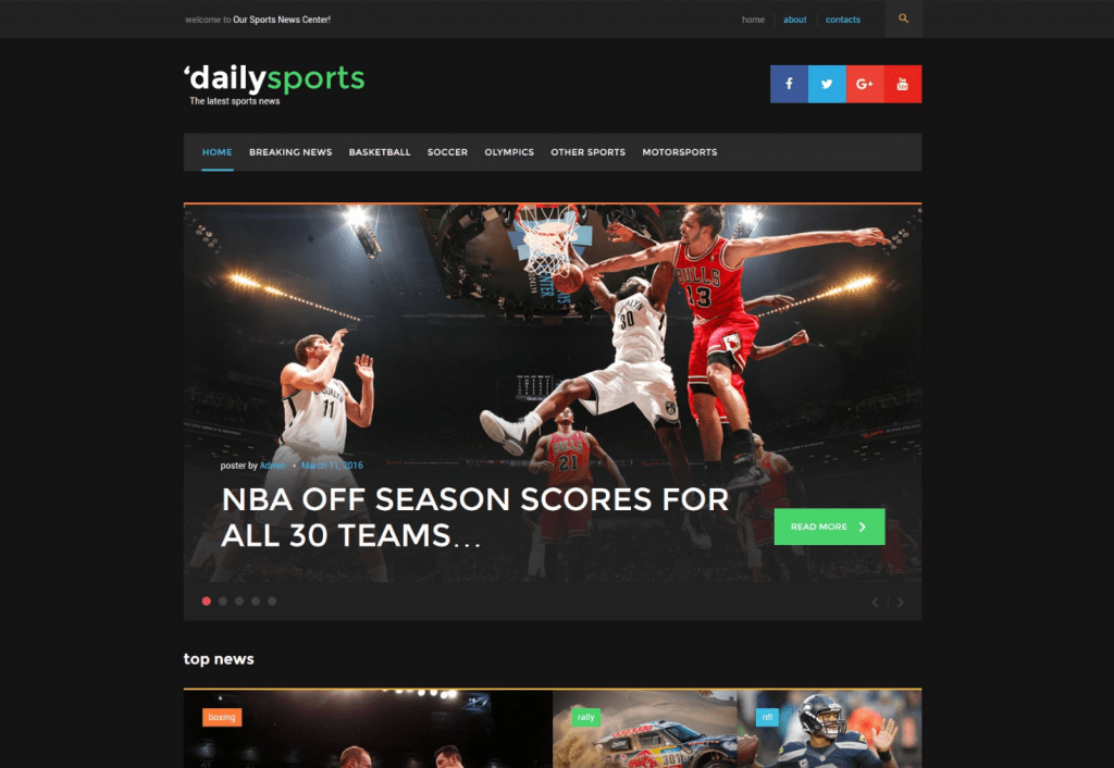 DailySports - Sports Magazine WordPress Theme