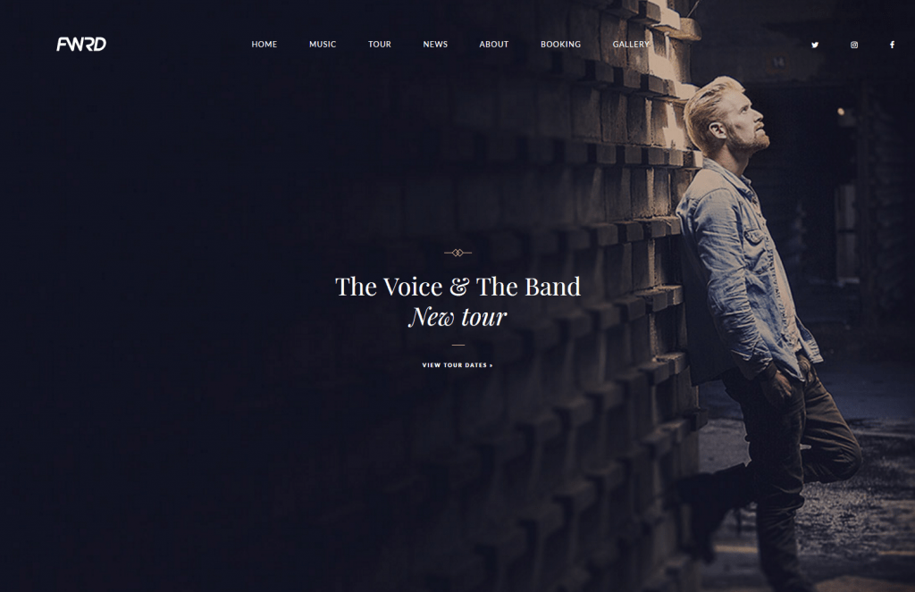 FWRD - Music Blog & Musician WordPress Theme