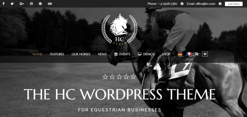 Equestrian WordPress Theme