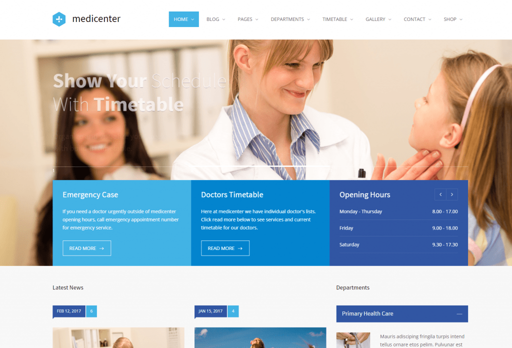 MediCenter - Medical Services WordPress Theme