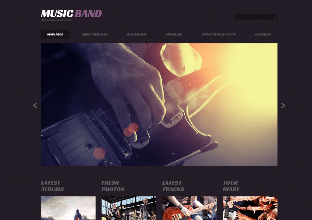 Music Band- Music Blog Responsive WordPress Theme