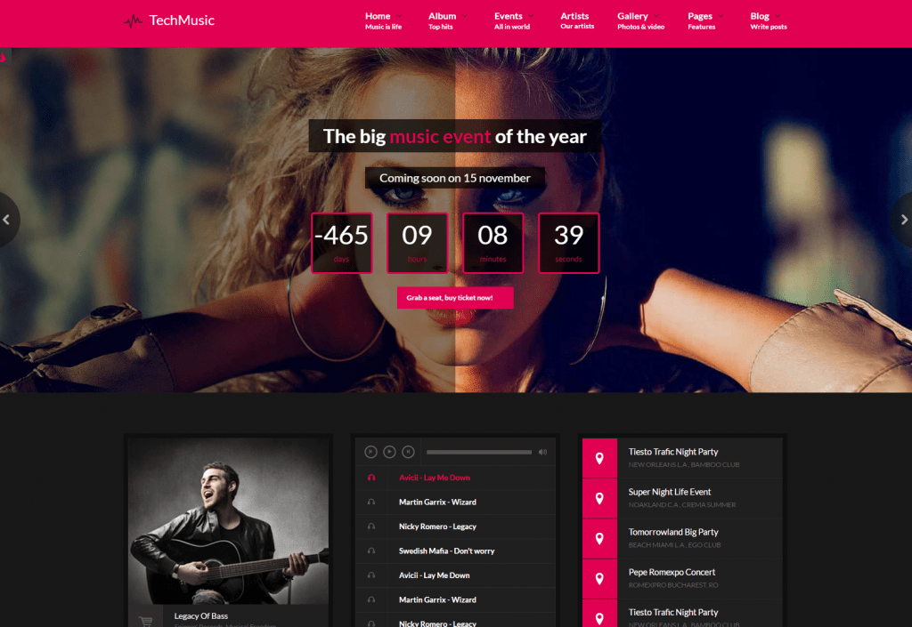 VibeMusic- Singers, Deejays, Bands HTML template