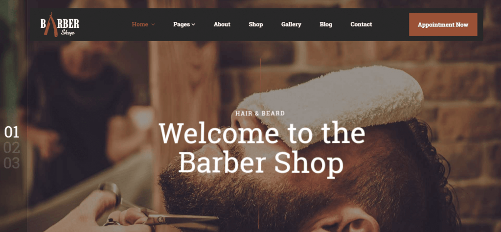 Shave Salon WordPress Theme