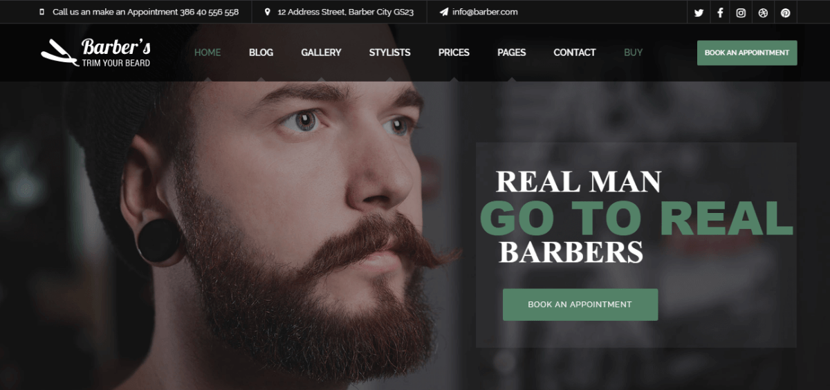 Top 10 Barbershop WordPress Themes for Hair Salons