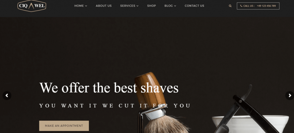 Barbershop WordPress Theme