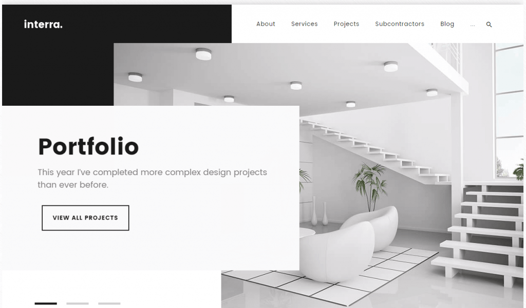 Interior Design Portfolio WordPress Theme