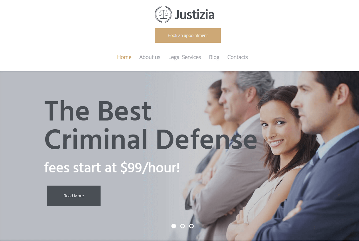 Justizia- Lawyer Services WordPress Theme