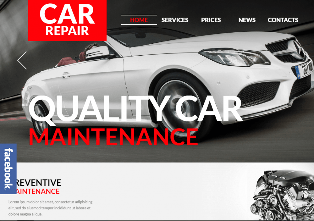 Auto Repair WordPress Theme