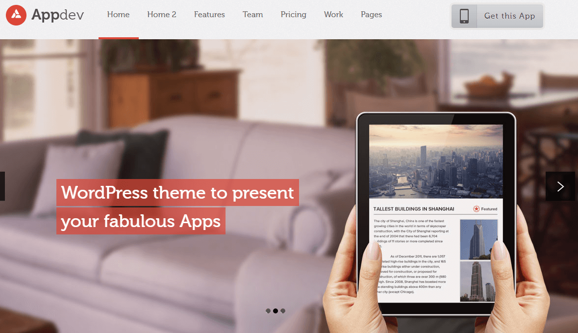 App Showcase WordPress Theme