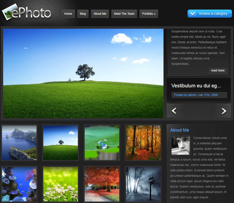 A Vivid Photography WordPress Theme