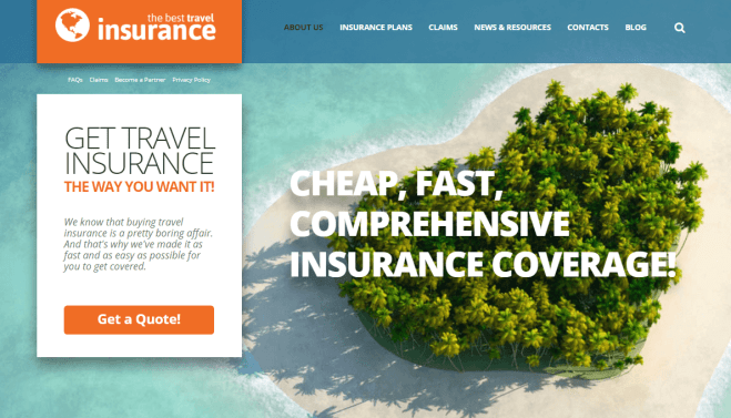 Travel Insurance WordPress Theme