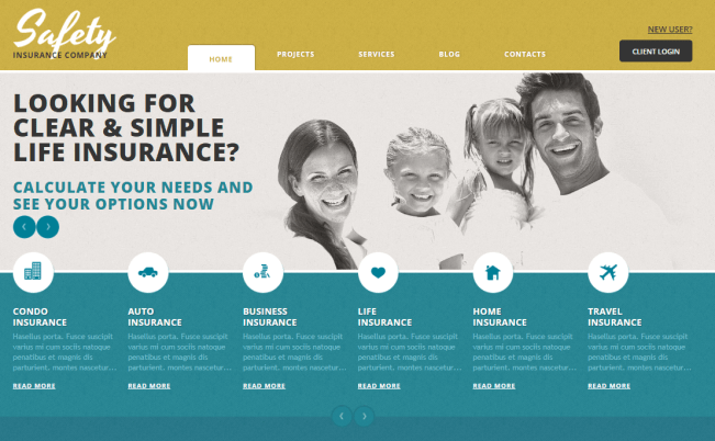 Cherry Insurance WordPress Theme