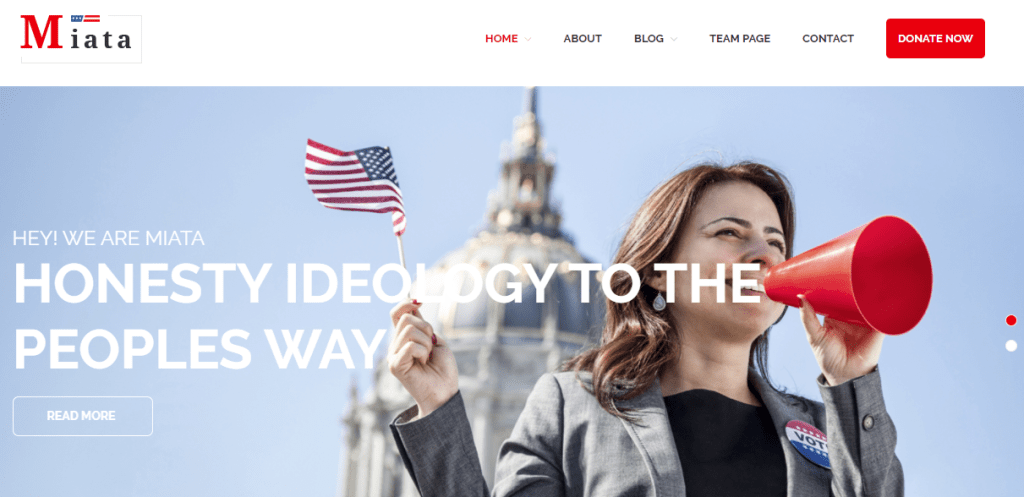 Political Leader WP Theme