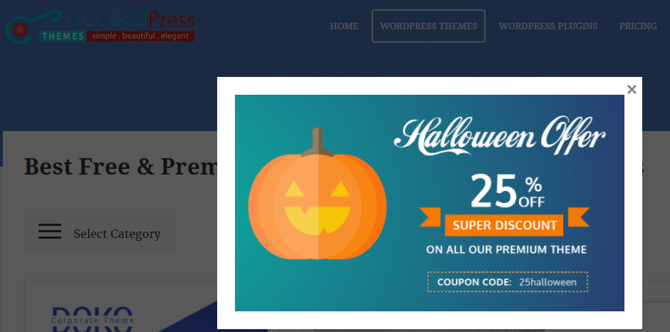 AccessPress Halloween Offer