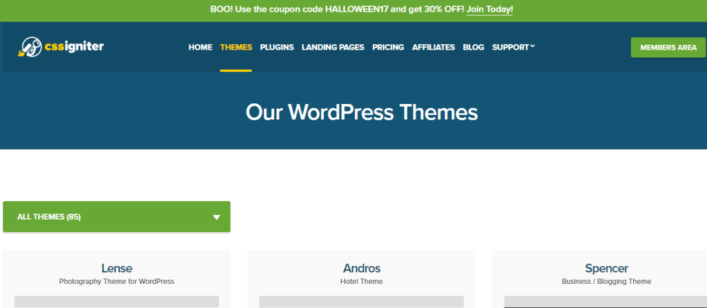 cssigniter halloween wordpress offer
